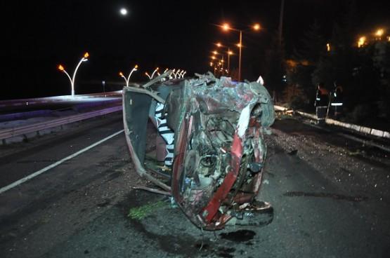Uşak'ta hız ve alkolün neden olduğu kazada 1 kişi öldü!