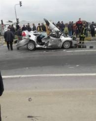 Uşak OSB kavşağında kaza! 1 kişi öldü!