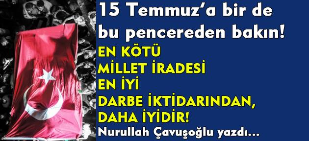 15 Temmuz 'Egemenlik Kayıtsız Şartsız Milletindir' sözünün doğruluğunun en bariz ispatıdır!