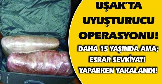 15 Yaşındaki Çocuğun Valizinde Esrar Yakalandı!