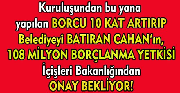 Cahan devraldığında 40 milyon borçlu diye feveran ettiği Uşak Belediyesi'nin borcu 300 milyonu aştı!