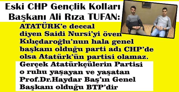 CHP Genel Merkezi ve Örgütü topa tutan CHP'li Başkan siyasete BTP saflarında devam kararı aldı