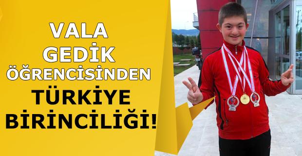 Vala Gedik Özel Eğitim Ortaokulu'ndan Türkiye birinciliği!