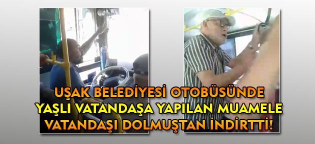 80 yaşındaki adam, belediyenin otobüsünden inmek zorunda kaldı!