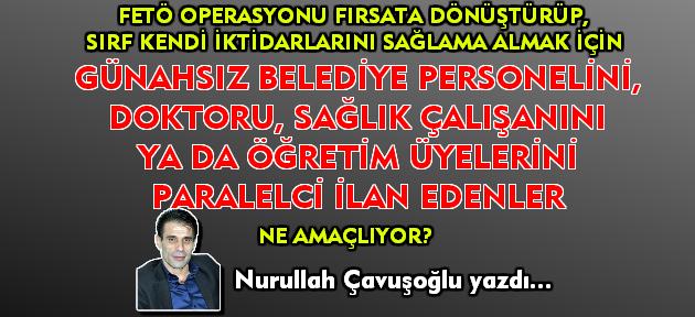 AKP çek artık yargının üzerinden elini ve karışma; kimin paralelci olduğuna yargı karar versin!