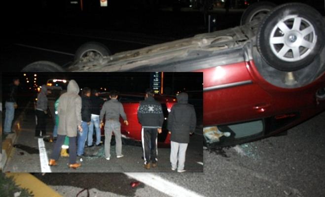 Alkollü Sürücünün Kullandığı Otomobil Takla Attı!
