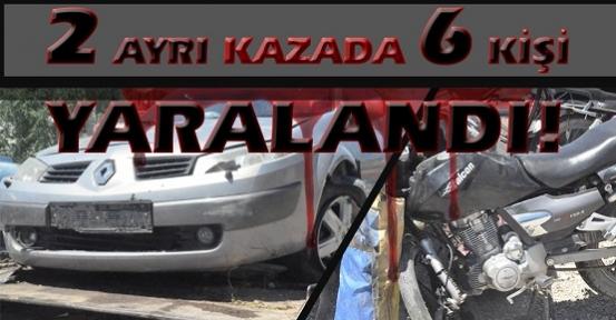 Bayram Yoğunluğu Trafik Kazalarınıda Beraberinde Getirdi! 6 Yaralı