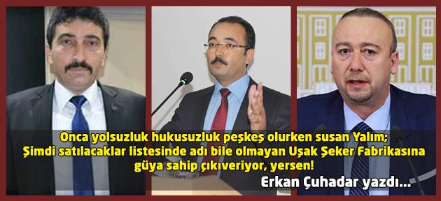 Belediye bütçesi talan edilirken çıt demeyen Özkan Bey, Şeker fabrikasını sattırmayacakmış! Satılık olduğunu kim söyledi sahi?