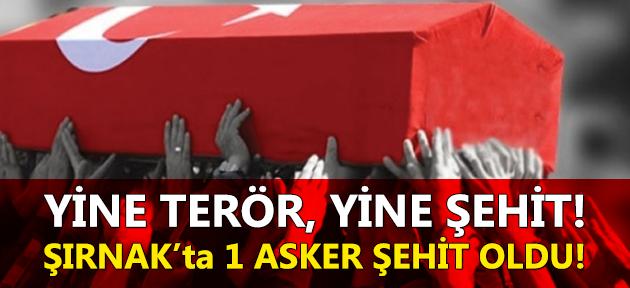 Şırnak'ta bir asker şehit oldu!