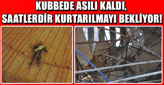 Camii İnşaatındaki İskele Çöktü, 5 İşçi Yaralandı!