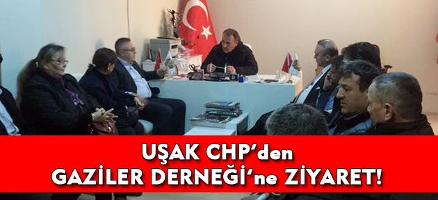 CHP Uşak, Gaziler Derneği'ni ziyaretiyle referandum çalışmalarına devam etti!