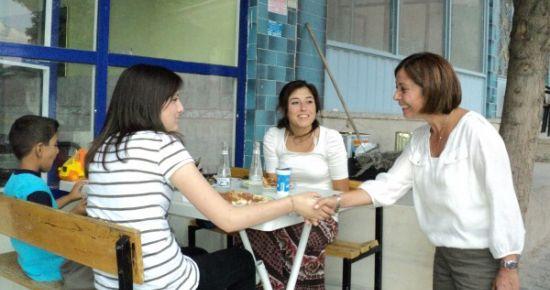 CHP Uşak Milletvekili Dilek Yılmaz Karahallı'da