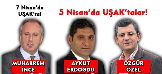 CHP Uşak'ta yıldızlar geçidi!