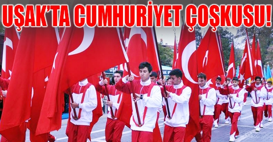 Cumhuriyet'in 91. Yaşına Uşak'ta Coşkulu Kutlama!