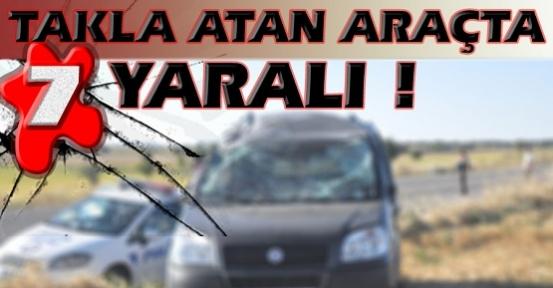 Dikkatsizlik ve Bozuk Yol Kazaya Neden Oldu! 7 Yaralı!