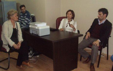 Dilek Akagün Yılmaz Uşak Haber Merkezi Bürosunu Ziyaret Etti