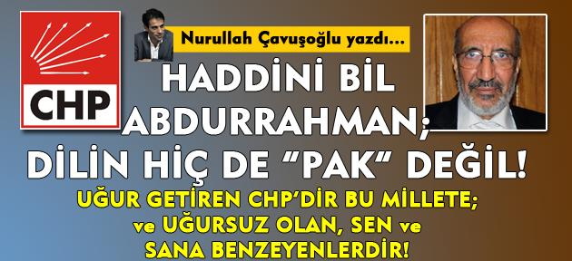 Dilipak CHP'ye uğursuz demiş; aynaya bakmış! Asıl uğursuz önce kendisi, sonra gazetesi ve partisi!