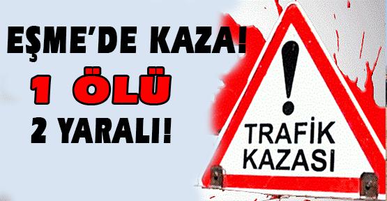 Direksiyon Hakimiyetini Kaybeden Otomobil Takla Attı! 1 Ölü 2 Yaralı!