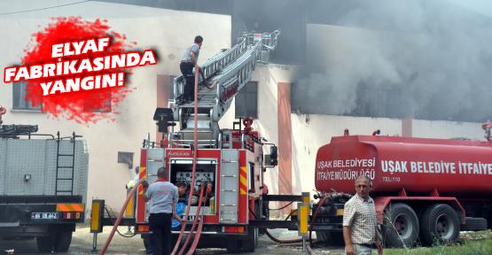 Elyaf Fabrikası'nda Korkutan Yangın!