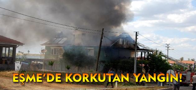 Eşme'de korkutan yangın büyümeden söndürüldü!