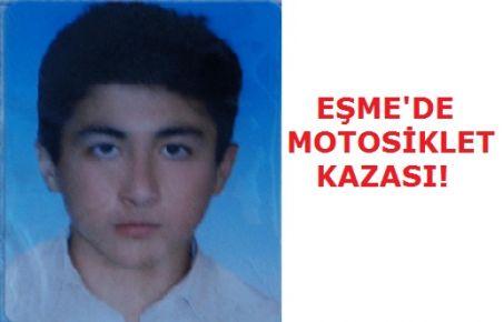 Eşme'de Motosiklet Kazası! 1 Ölü!