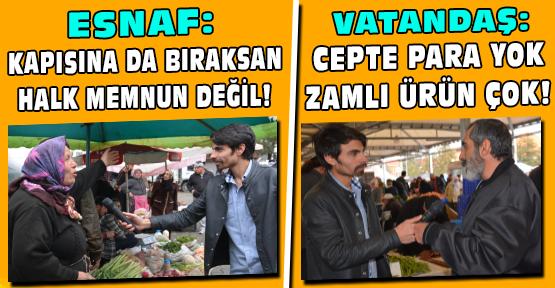Esnaf Hal'den ve Belediyeden, Vatandaş ise Fiyatların Yüksekliğinden Şikayetçi!