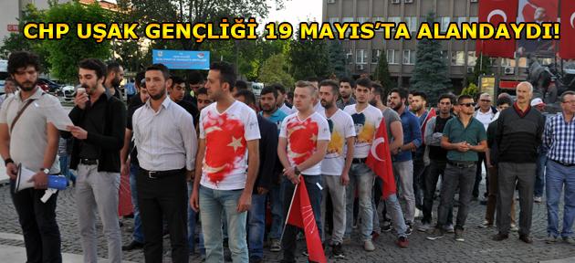 Gençlik Bayramı kutlaması, CHP Uşak Gençliği'nden geldi!