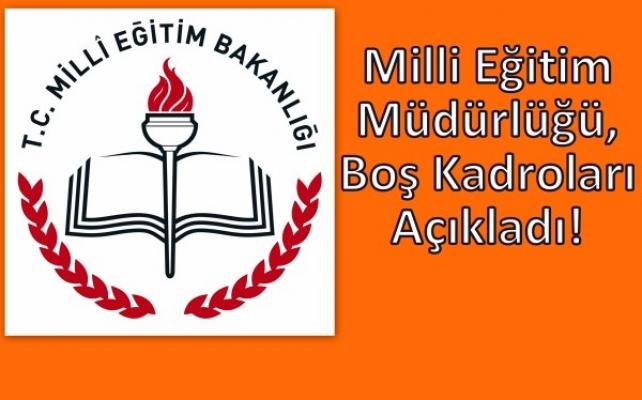 Haberimiz Üzerine, Uşak Milli Eğitim Boş Okulların Listesini Yayımladı!