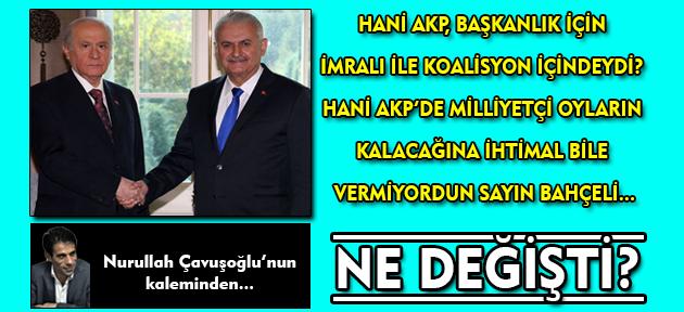 Hani Erdoğan ve Öcalan Başkanlıkta söz kesti demiştin ya Bahçeli; nişanı üçünüz mü takacaksınız?