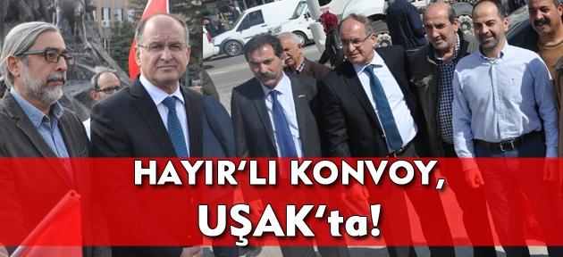 Anıtkabir'den yola çıkan Hayır'lı Konvoy, Uşak'a geldi!