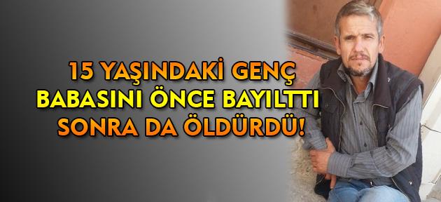 Uşak'ta cinayet! 15 yaşındaki genç babasını öldürdü!