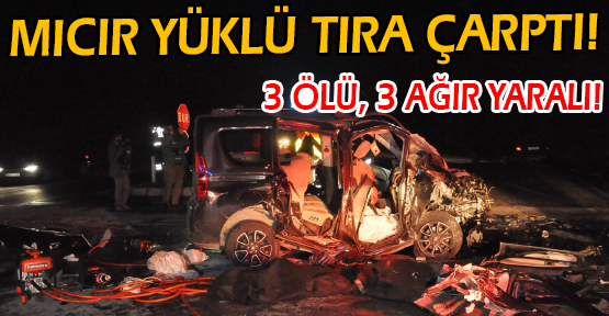 Hurdaya Dönen Araçta Bulunan 3 Kişi Öldü, 3 Kişi de Ağır Yaralandı!