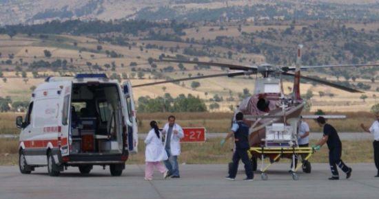 İkizler Ambulans Helikopterle İlk Yolculuğunu Yaptı