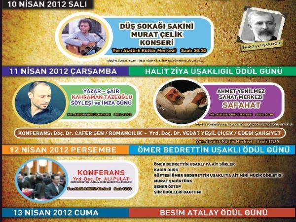 İlim,Kültür ve Edebiyat Festivali 10 Nisan'da Başlıyor