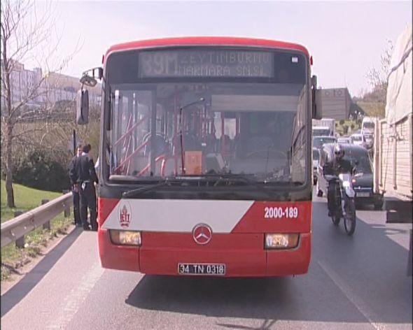 İstanbul Bakırköy'de İETT otobüsünde  silahlı saldırıda 2 kişi yaralandı.Video haber...