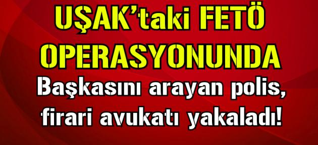 İzmir'de FETÖ'den aranan avukat Uşak'ta yakalandı!