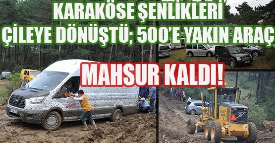 Karaköse Şenliklerinde Yağan Yağmur İki Bin Kişiyi Mahsur Bıraktı!