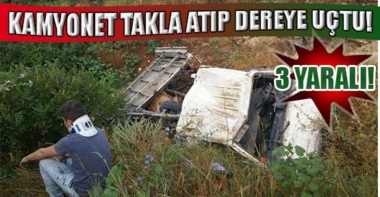 Sürücüsünün Direksiyon Hakimiyetini Kaybettiği Minibüs Dereye Uçtu!