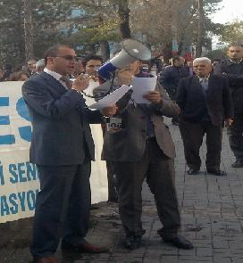 KESK Uşak Tiritoğlu Parkında Hükümeti Protesto Etti..