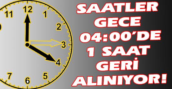 Kış Saati Uygulaması Başlıyor, Saatlerinizi Geri Almayı Unutmayın!