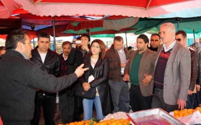 MHP Uşak Teşkilatı'nın Pazar Ziyaretinde Esnaf İçini Döktü!