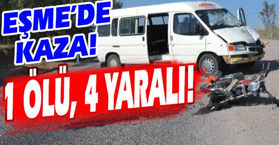 Minibüsle Çarpışan Motosikletin Sürücüsü Hayatını Kaybetti!
