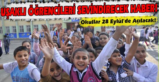 Okullar 28 Eylül'de Açılacak!
