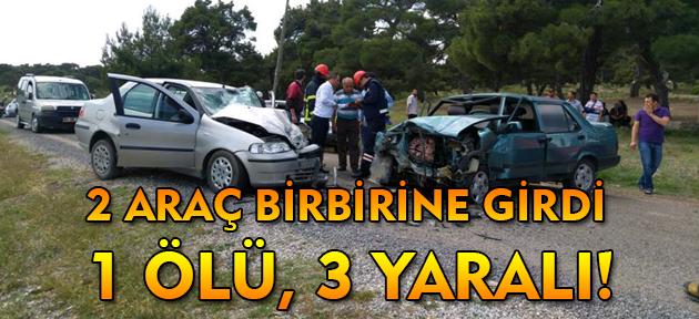 Omurca Çamlığında trafik kazası! 1 ölü 3 yaralı!
