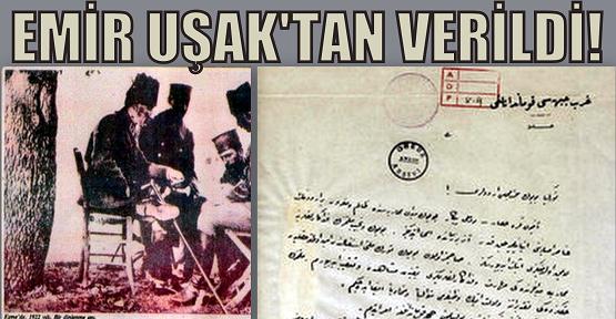 Ordular, ilk hedefiniz Akdeniz; ileri! Emri Uşak'ta verildi!