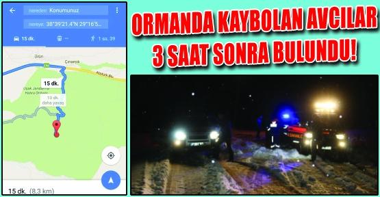 Ormanlık Alanda Kaybolan Avcıları, Jandarma Whatsapp'tan Gelen Konum Bilgisiyle Kurtardı!