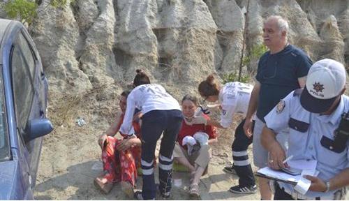 Takla Atan Otomobilde 2 Kişi Yaralandı!