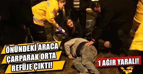 Takla Atan Otomobilin Sürücüsü Ağır Yaralandı!
