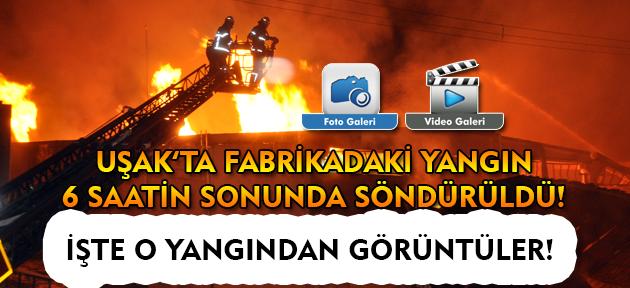 Tekstil fabrikasındaki yangın 6 saatin sonunda söndürüldü!