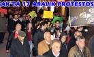 17 Aralık, Uşak'ta Yürüyüşle Protesto Edildi!